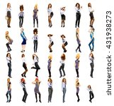 office party united girls  | Shutterstock . vector #431938273