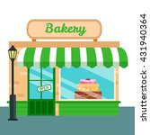 bakery shop  stores front icon... | Shutterstock .eps vector #431940364