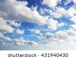 sky   blue sky background with... | Shutterstock . vector #431940430