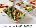 healthy food delivery. fitness... | Shutterstock . vector #431943010