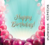 birthday card frame with... | Shutterstock . vector #431945146