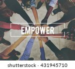 empower enable authorize... | Shutterstock . vector #431945710