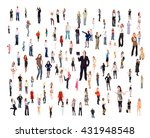 corporate teamwork united... | Shutterstock . vector #431948548