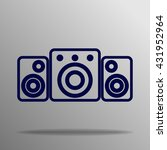 speaker icon blue on a gray...