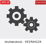 settings icon vector  | Shutterstock .eps vector #431964124