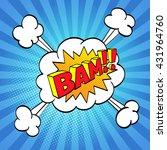 comic sound effect. halftone...   Shutterstock .eps vector #431964760