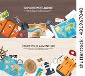 travel tourism vector... | Shutterstock .eps vector #431967040