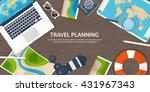 travel tourism vector... | Shutterstock .eps vector #431967343