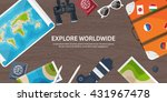 travel tourism vector... | Shutterstock .eps vector #431967478