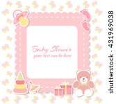 baby shower girl  invitation... | Shutterstock .eps vector #431969038