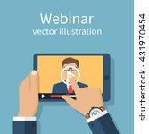 webinar  online conference ... | Shutterstock .eps vector #431970454