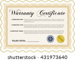 sample warranty certificate... | Shutterstock .eps vector #431973640