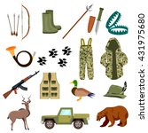 hunting cartoon vector set.bow... | Shutterstock .eps vector #431975680
