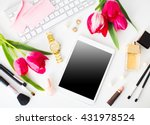 still life of fashion woman ... | Shutterstock . vector #431978524