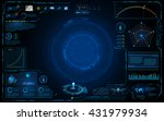 hud interface technology... | Shutterstock .eps vector #431979934