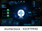 abstract health care technology ... | Shutterstock .eps vector #431979940