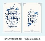wedding invitation  thank you... | Shutterstock .eps vector #431982016