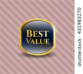 best value golden emblem | Shutterstock .eps vector #431983270