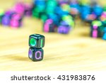 colorful letter cube with... | Shutterstock . vector #431983876