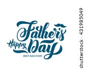 happy fathers day lettering.... | Shutterstock .eps vector #431985049