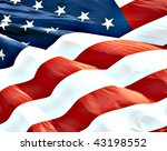 photo of american flag waving... | Shutterstock . vector #43198552