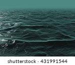 3d illustration of ocean water... | Shutterstock . vector #431991544