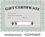 modern gift certificate...   Shutterstock .eps vector #431993839