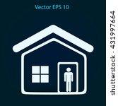 home vector icon | Shutterstock .eps vector #431997664
