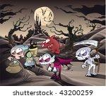 horror landscape with... | Shutterstock .eps vector #43200259