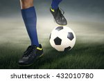 feets soccer player on the top... | Shutterstock . vector #432010780