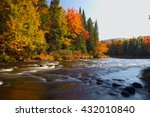 Beautiful Mountain River In...