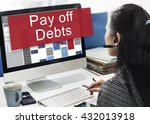 pay off debts loan money... | Shutterstock . vector #432013918
