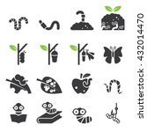 worm icon set. | Shutterstock .eps vector #432014470