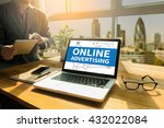 online advertising thoughtful... | Shutterstock . vector #432022084