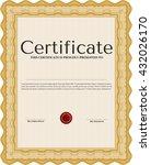 orange diploma template. vector ... | Shutterstock .eps vector #432026170