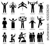 positive personalities... | Shutterstock . vector #432028240