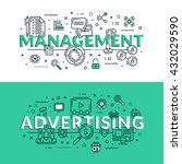 management and advertising... | Shutterstock .eps vector #432029590