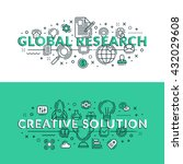 global research and creative... | Shutterstock .eps vector #432029608