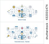 meeting. technical task. flat... | Shutterstock .eps vector #432031474