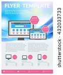 vector business design template ... | Shutterstock .eps vector #432033733
