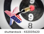 dart arrow with usa flag ... | Shutterstock . vector #432035620