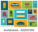 icons of various kinds of... | Shutterstock .eps vector #432037390