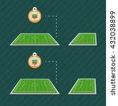 stadium field pitch football...   Shutterstock .eps vector #432038899