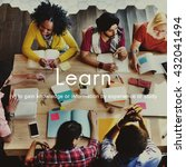 knowledge learn education... | Shutterstock . vector #432041494