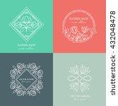 Vector Flower Shop Logo Design...
