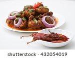hot spicy kerala chicken curry  ...   Shutterstock . vector #432054019