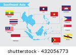 southeast asia map  vector... | Shutterstock .eps vector #432056773