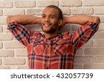 handsome afro american man is... | Shutterstock . vector #432057739