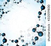 multicolor molecules pattern... | Shutterstock .eps vector #432059830