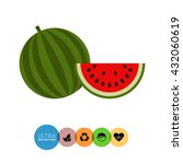 watermelon and watermelon slice | Shutterstock .eps vector #432060619